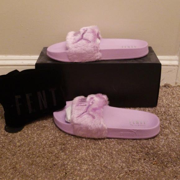 online retailer bdcdd b30f9 NIB Puma Fenty slides purple orchid 9.5 NWT